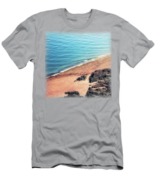 Rocky Beach Aerial Men's T-Shirt (Athletic Fit)