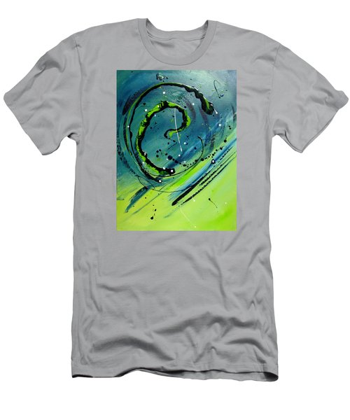 Men's T-Shirt (Slim Fit) featuring the painting Rolling Down The River by Mary Kay Holladay