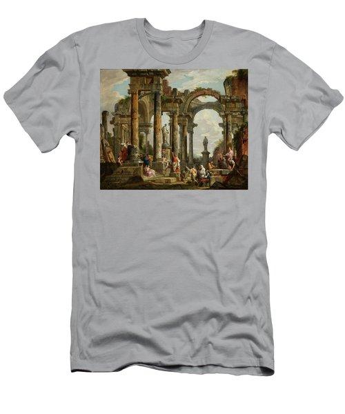 Roman Ruin Architecture With Predigendem St. Paul Men's T-Shirt (Athletic Fit)