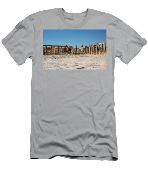 Men's T-Shirt (Athletic Fit) featuring the photograph Roman Ruins At Ajloun by Mae Wertz