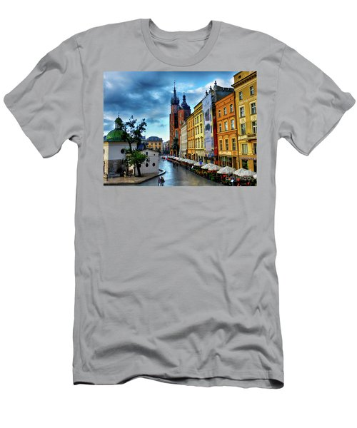 Romance In Krakow Men's T-Shirt (Athletic Fit)