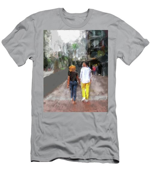 Romantic Couple Men's T-Shirt (Athletic Fit)