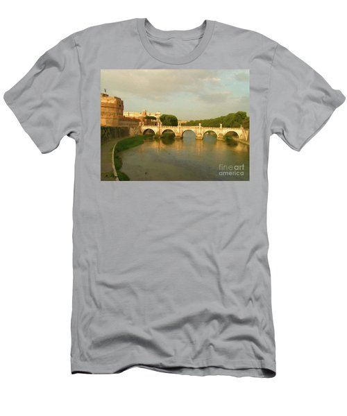 Rome The Eternal City And Tiber River Men's T-Shirt (Athletic Fit)