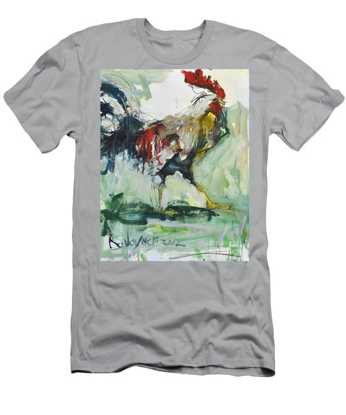 Rooster Painting Men's T-Shirt (Athletic Fit)