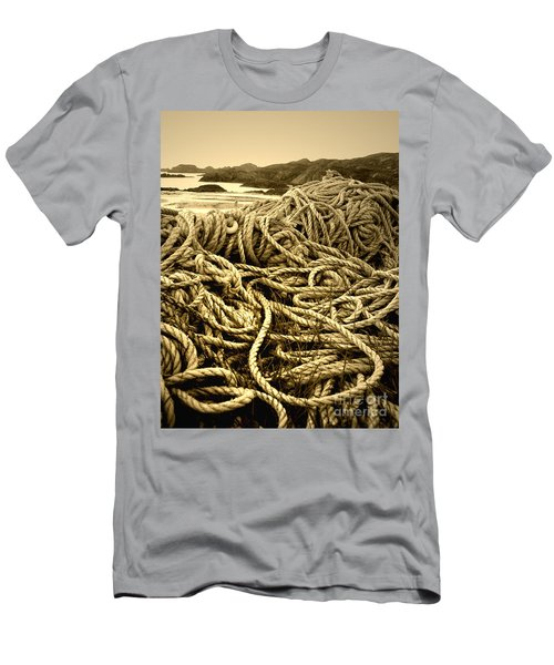 Ropes On Shore Men's T-Shirt (Athletic Fit)