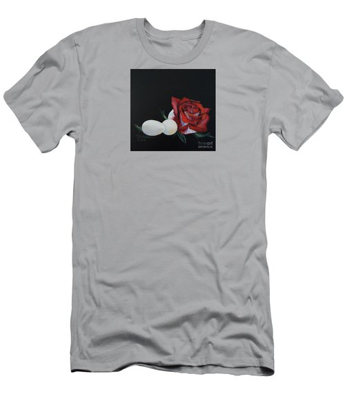 Rose And The Eggs Acrylic Painting Men's T-Shirt (Slim Fit) by Shelley Overton