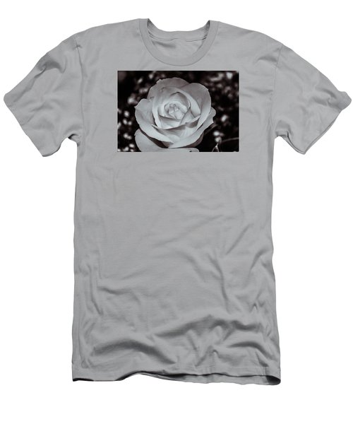 Men's T-Shirt (Slim Fit) featuring the photograph Rose B/w - 9166 by G L Sarti