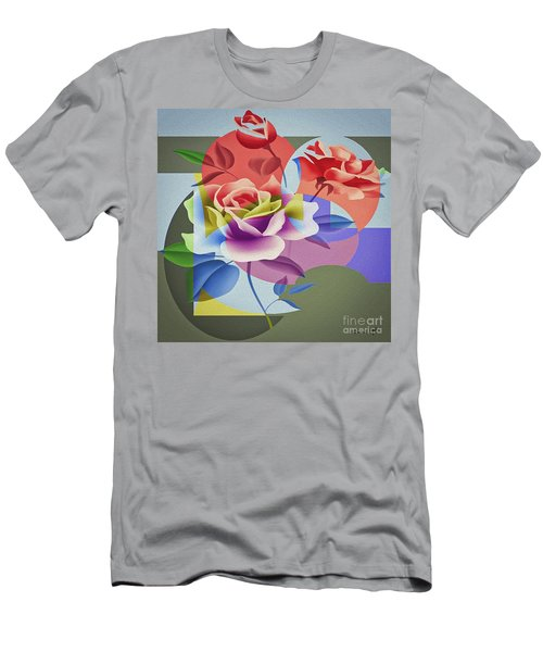 Men's T-Shirt (Athletic Fit) featuring the digital art Roses For Her by Eleni Mac Synodinos