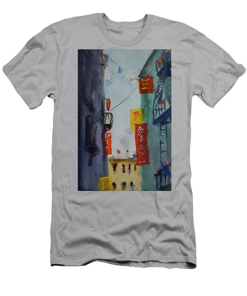 Ross Alley6 Men's T-Shirt (Slim Fit) by Tom Simmons