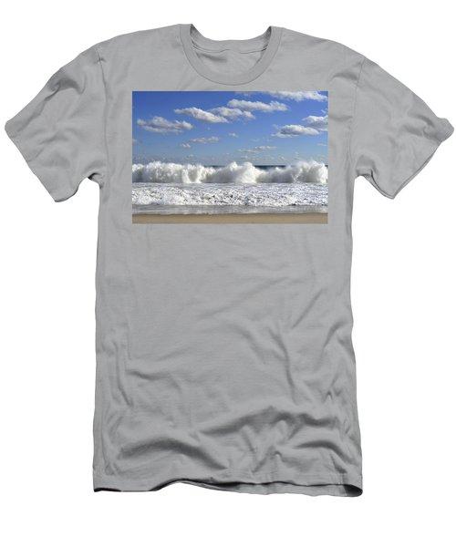 Rough Surf Jersey Shore  Men's T-Shirt (Athletic Fit)