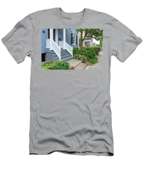 Row Of Historic Row Houses Men's T-Shirt (Athletic Fit)