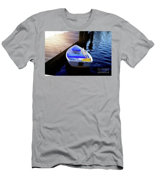 Rowboat At Sunset Men's T-Shirt (Slim Fit) by Inspirational Photo Creations Audrey Woods