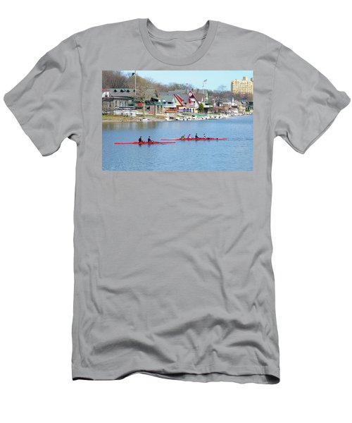 Rowing Along The Schuylkill River Men's T-Shirt (Athletic Fit)