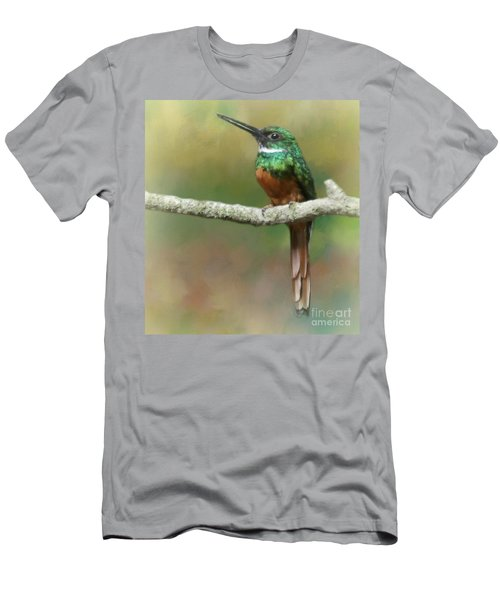 Men's T-Shirt (Slim Fit) featuring the photograph Rufus-tailed Jacamar by Myrna Bradshaw