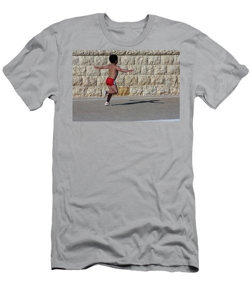 Running Child Men's T-Shirt (Athletic Fit)