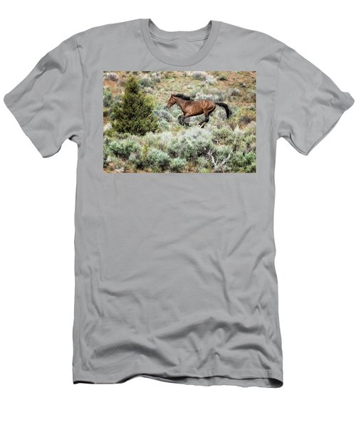 Men's T-Shirt (Athletic Fit) featuring the photograph Running Through Sage by Belinda Greb