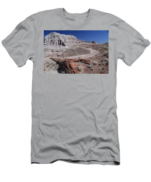 Men's T-Shirt (Slim Fit) featuring the photograph Runoff Obstacle by Gary Kaylor