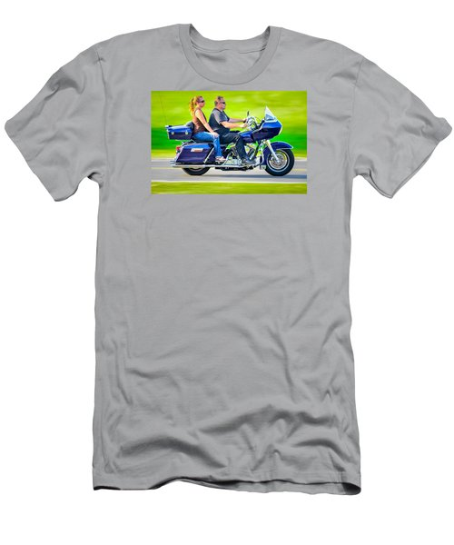 Men's T-Shirt (Slim Fit) featuring the photograph Rural Ride 2 by Brian Stevens