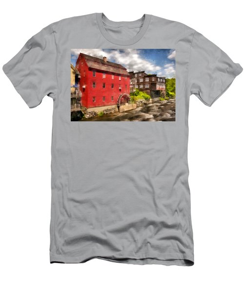 Rustic Historic Grist Mill Littleton, Nh Men's T-Shirt (Slim Fit) by Betty Denise