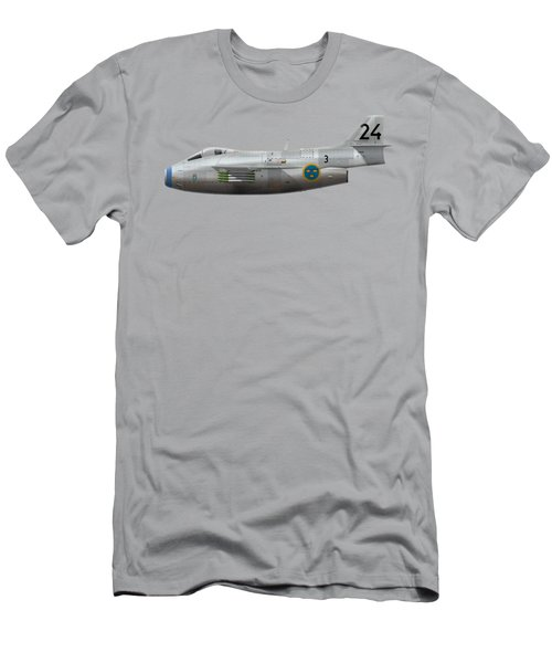 Saab J 29f Tunnan - 29606 - Side Profile View Men's T-Shirt (Athletic Fit)