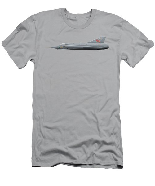 Saab J35j Draken - 35556 - Side Profile View Men's T-Shirt (Athletic Fit)