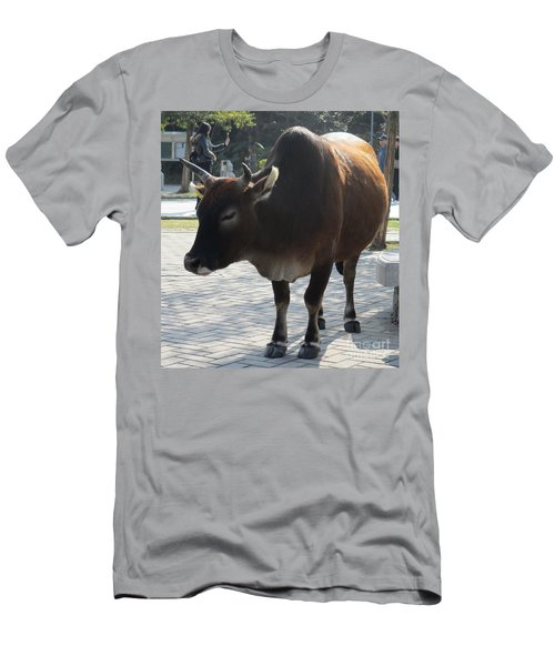 Men's T-Shirt (Slim Fit) featuring the photograph Sacred Cow 2 by Randall Weidner