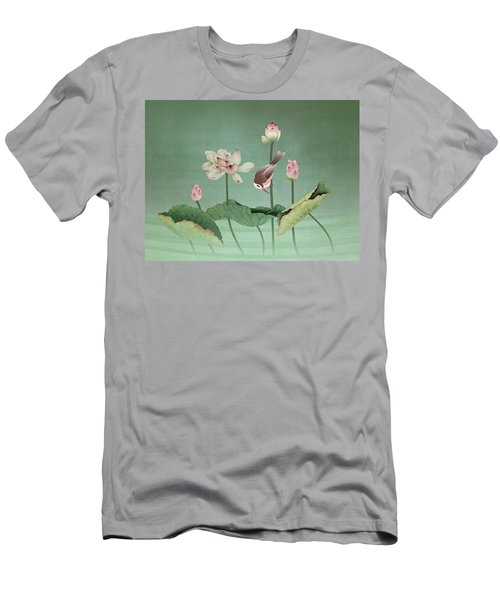 Sacred Lotus Flower Men's T-Shirt (Athletic Fit)