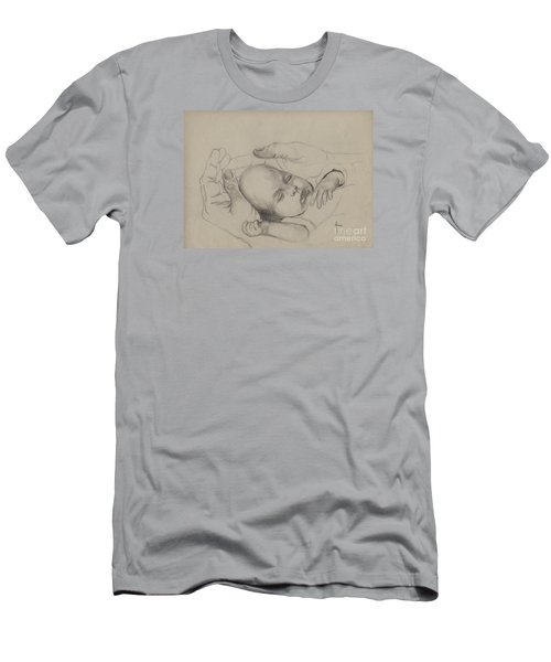 Men's T-Shirt (Slim Fit) featuring the drawing Safe by Annemeet Hasidi- van der Leij