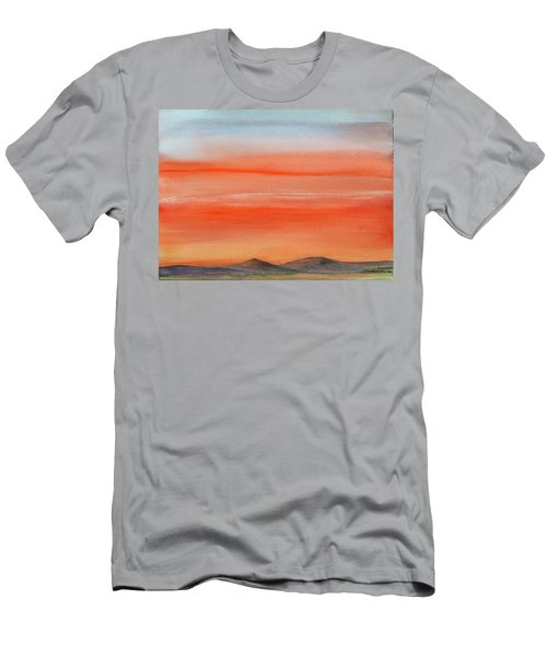 Saffron On The Mountains Men's T-Shirt (Athletic Fit)