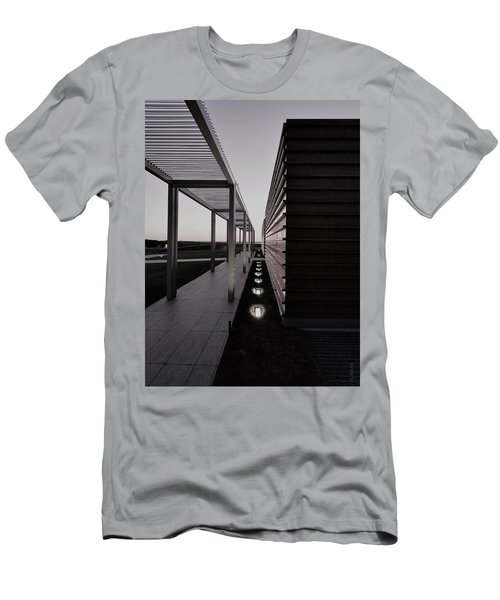 Men's T-Shirt (Athletic Fit) featuring the photograph Sag Harbor Sunset 1 In Black And White by Rob Hans