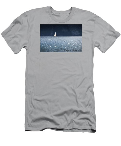 Sailboat Men's T-Shirt (Slim Fit) by Chevy Fleet