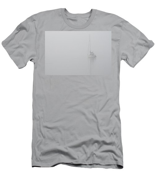 Sailboat In Fog Men's T-Shirt (Athletic Fit)