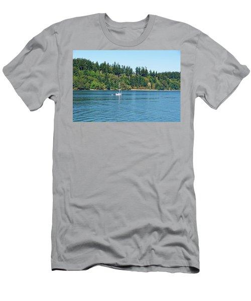 Sailboat Near San Juan Islands Men's T-Shirt (Athletic Fit)