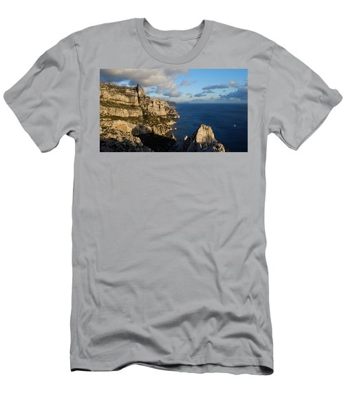 Men's T-Shirt (Athletic Fit) featuring the photograph Sailing by August Timmermans