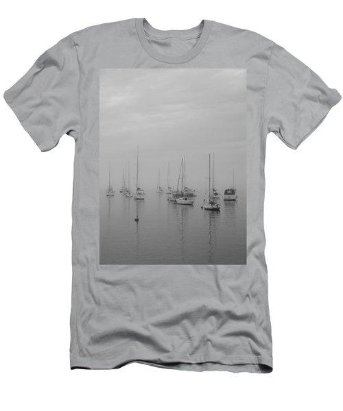 Sailing Bw Men's T-Shirt (Slim Fit) by Silvia Bruno