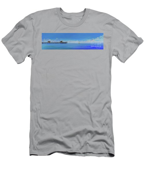 Men's T-Shirt (Athletic Fit) featuring the painting Sailing By San Clemente by Mary Scott