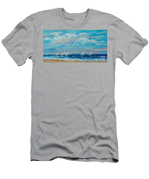 Sailing Close To The Shore Men's T-Shirt (Athletic Fit)