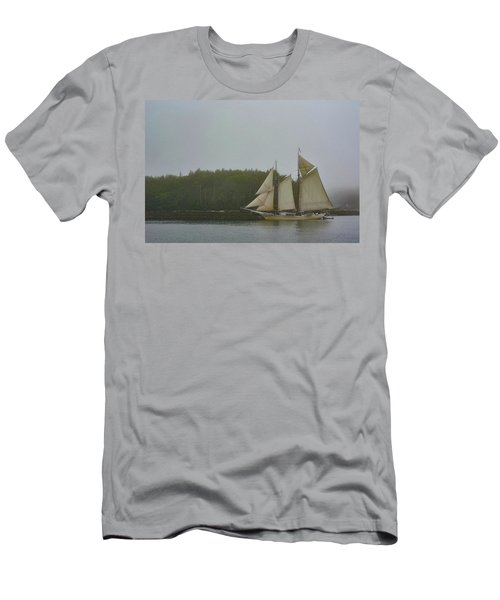 Sailing In The Mist Men's T-Shirt (Athletic Fit)