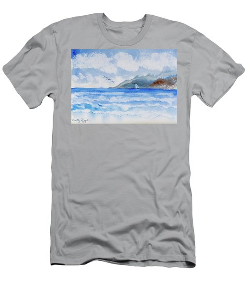 Sailing Into Moorea Men's T-Shirt (Athletic Fit)