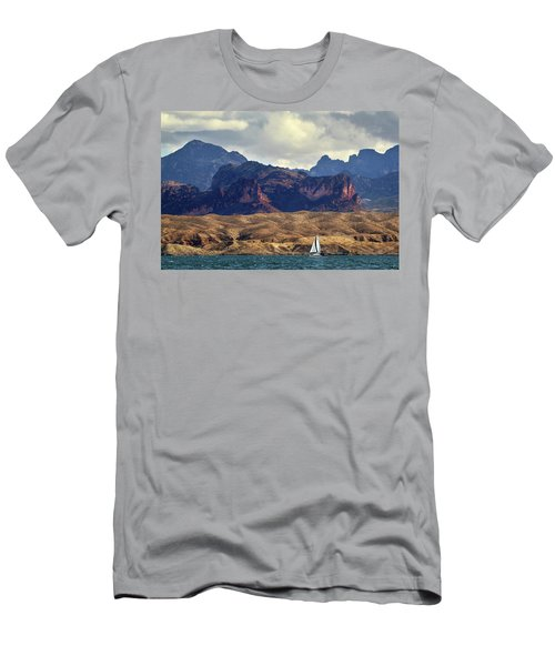 Sailing Past The Sleeping Dragon Men's T-Shirt (Athletic Fit)