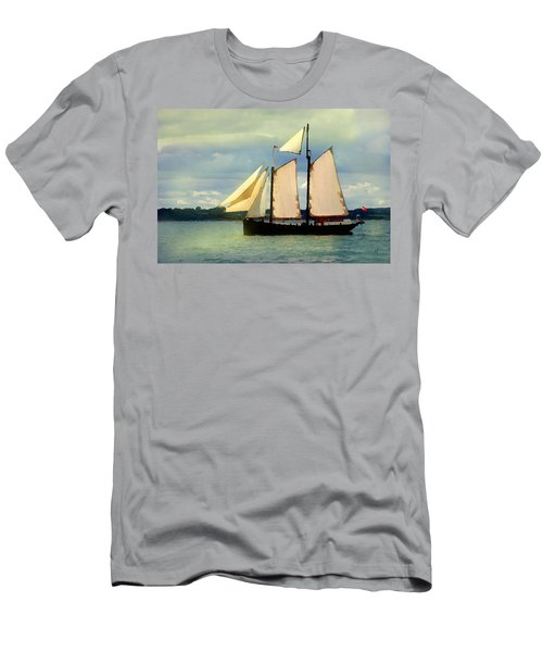 Men's T-Shirt (Athletic Fit) featuring the digital art Sailing The Sunny Sea by Shelli Fitzpatrick
