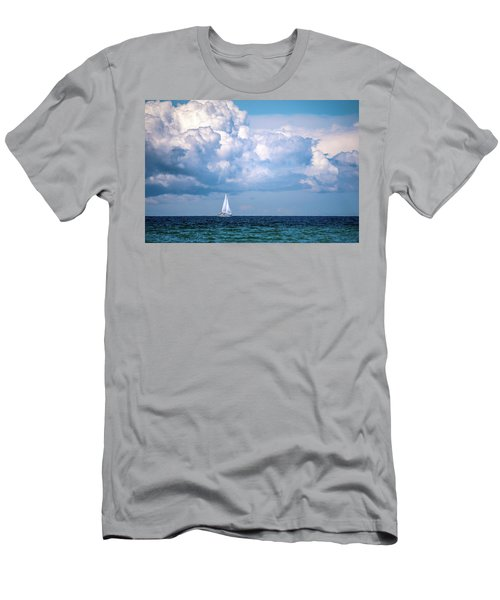 Sailing Under The Clouds Men's T-Shirt (Athletic Fit)