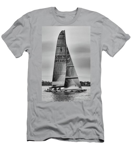 Sailing With Dolphins Men's T-Shirt (Athletic Fit)