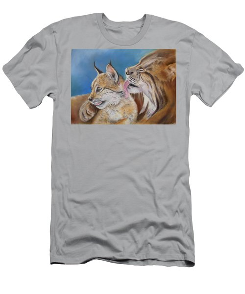 Men's T-Shirt (Slim Fit) featuring the painting Saliega Y Brezo by Ceci Watson