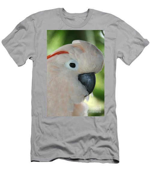 Salmon Crested Moluccan Cockatoo Men's T-Shirt (Slim Fit) by Sharon Mau