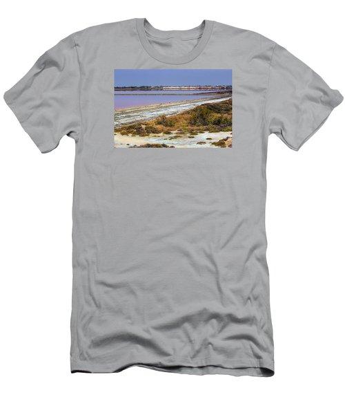 Salt Evaporation Ponds, Salin-de-giraud, Camargue, France Men's T-Shirt (Athletic Fit)