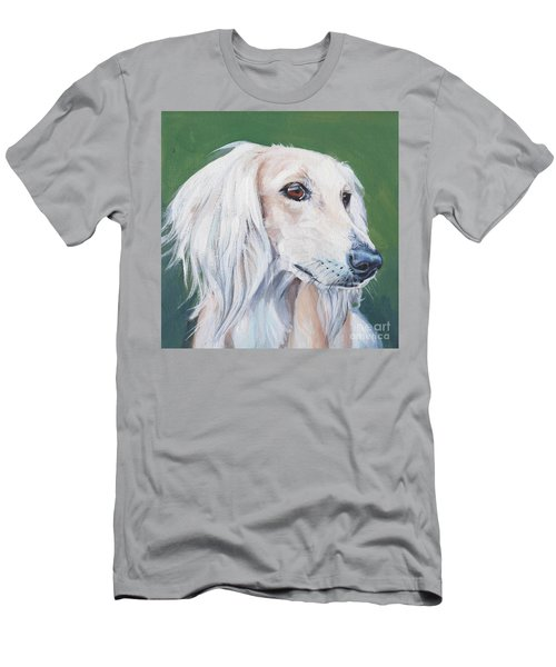 Men's T-Shirt (Slim Fit) featuring the painting Saluki Sighthound by Lee Ann Shepard