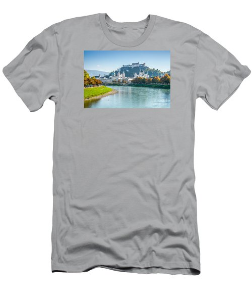 Salzburg Skyline With Fortress In Summer, Austria Men's T-Shirt (Athletic Fit)