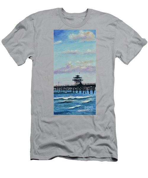 Men's T-Shirt (Athletic Fit) featuring the painting San Clemente Evening by Mary Scott