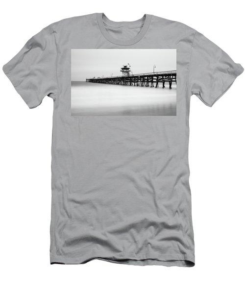 San Clemente Pier Men's T-Shirt (Slim Fit) by Tassanee Angiolillo